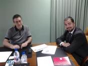 Francisco Rodenas y Julio Gallardo, representantes de AECA y Umivale respectivamente